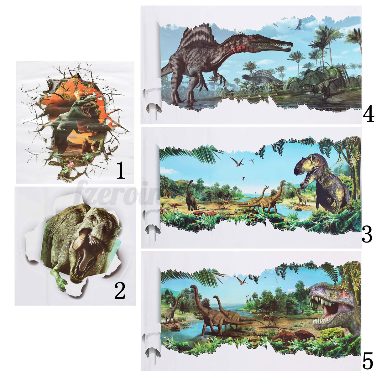 3d jurassic world park dinosaur wall sticker kids room for Best 20 jurassic park wall decal