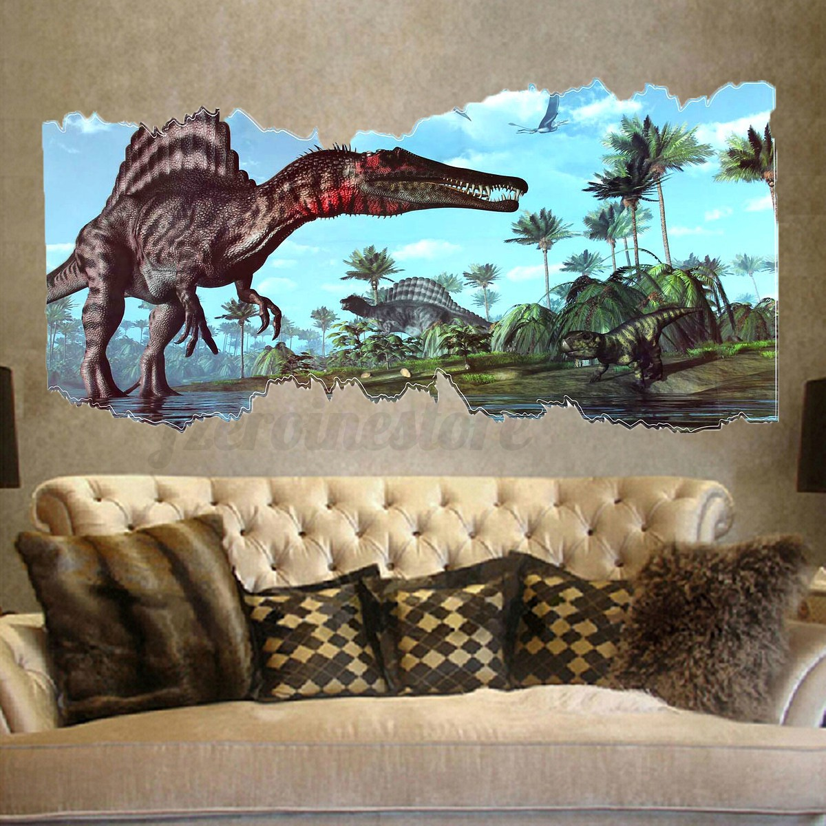 D Jurassic World Park Dinosaur Wall Sticker Kids Room Decal Mural - 3d dinosaur wall decalsd dinosaur wall stickers for kids bedrooms jurassic world wall