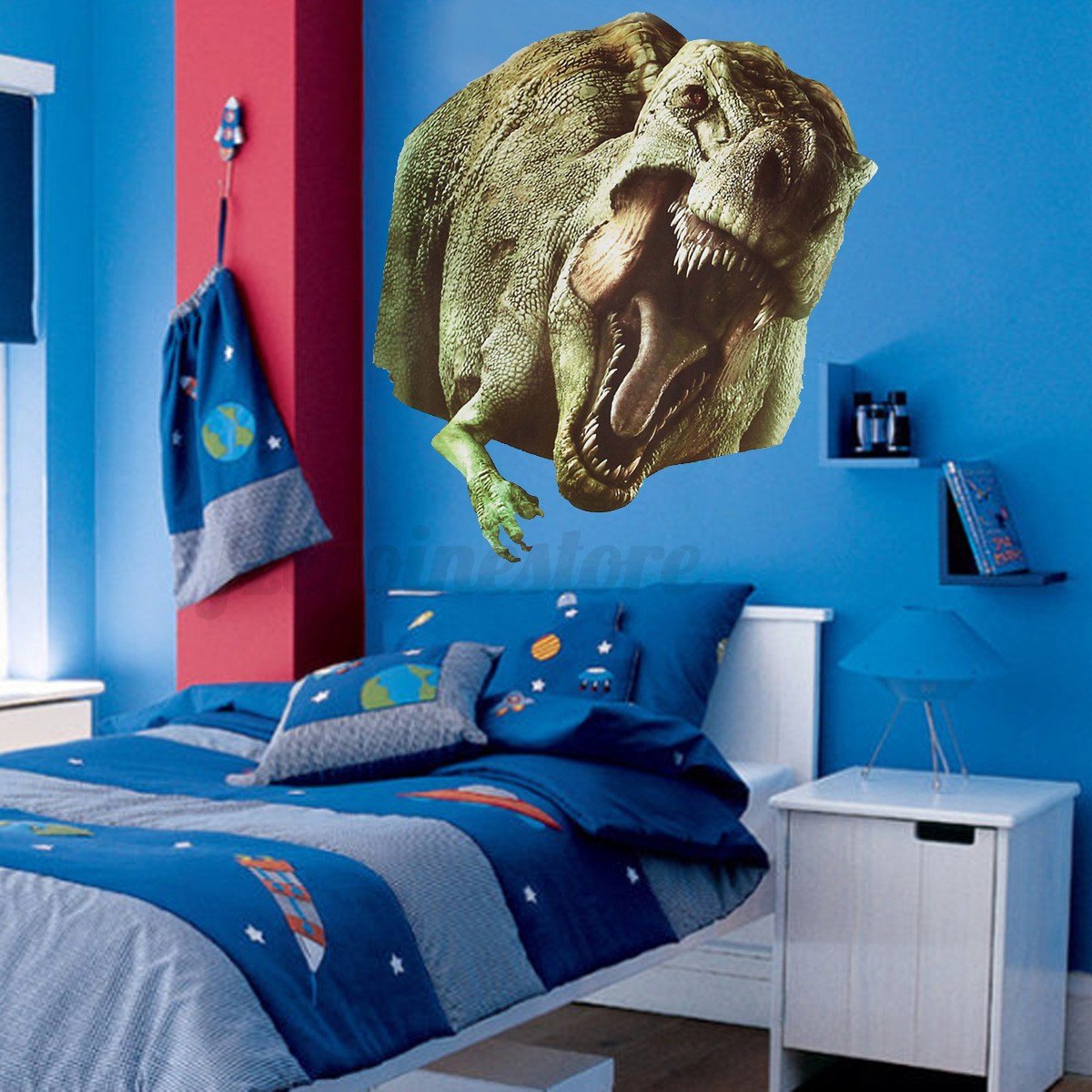3D Jurassic World Park Dinosaur Wall Sticker Kids Room