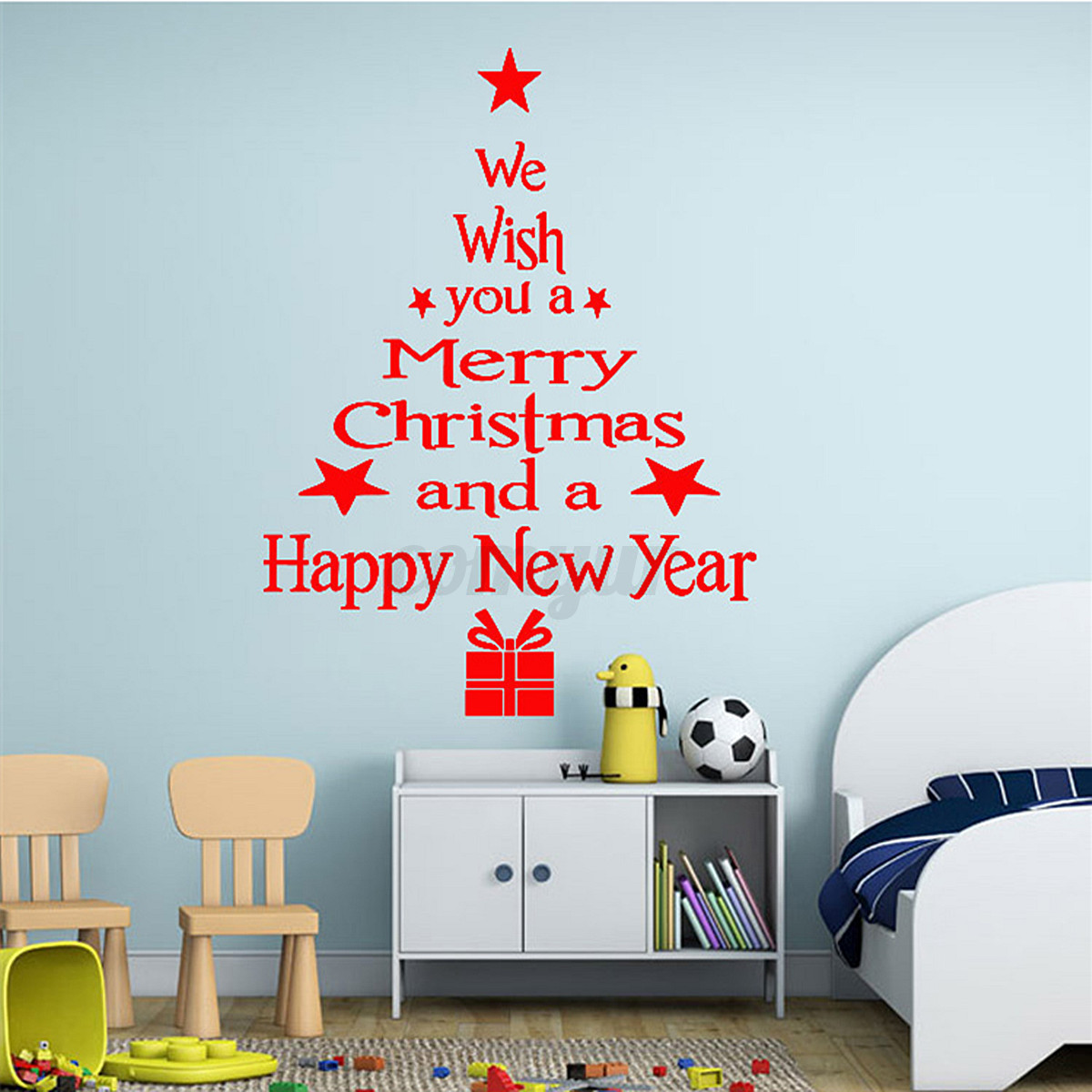 Merry christmas new year decoration tree wall stickers window detail image amipublicfo Gallery