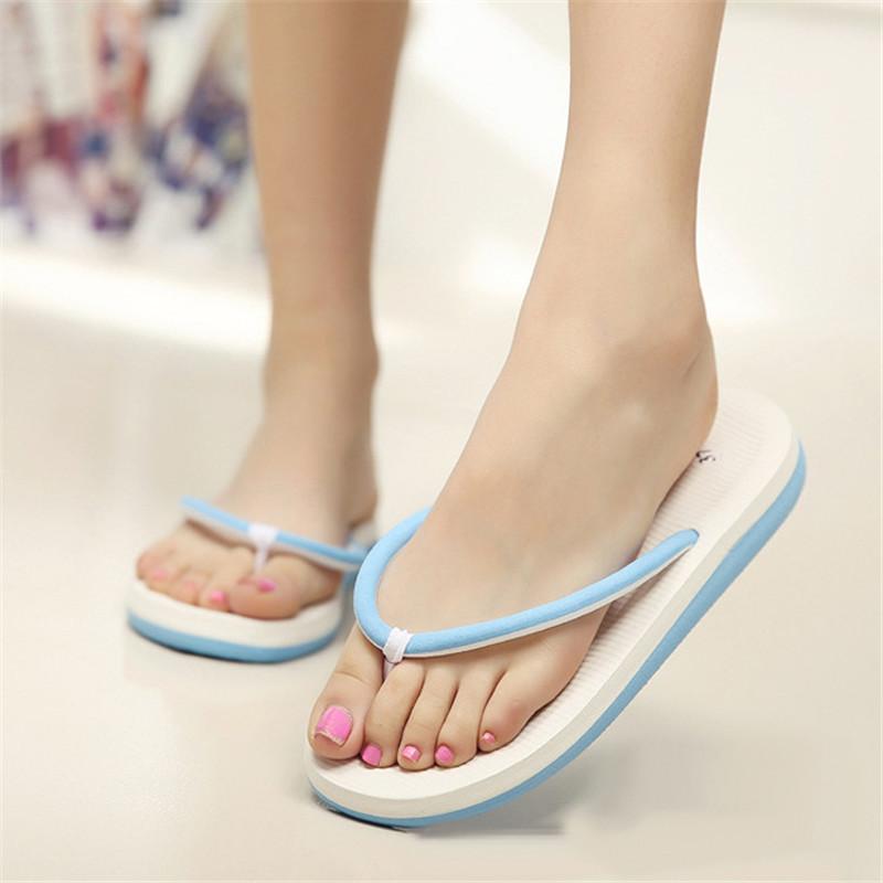 63cfd98cc5ca Men Women Flats Summer Casual Flip Flops Beach Slipper Sandals ...
