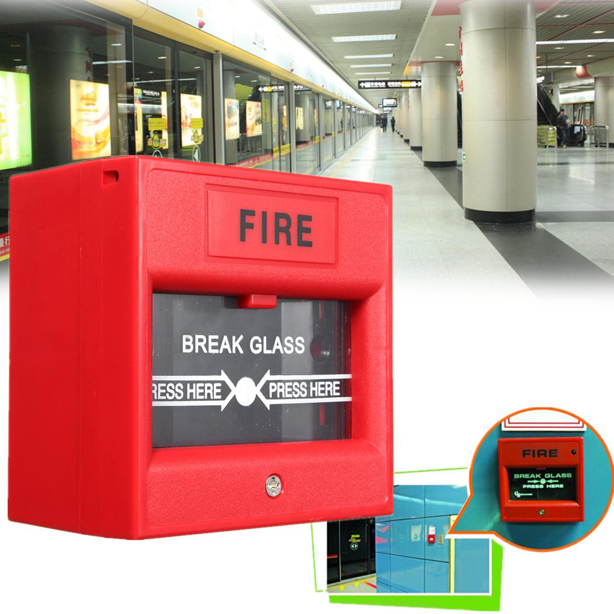 Emergency Door Release Fire Alarm Button Call Point Break Glass