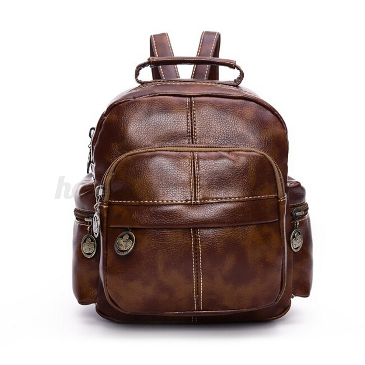 Fashion Women Vintage Mini Leather Travel Backpack Tote