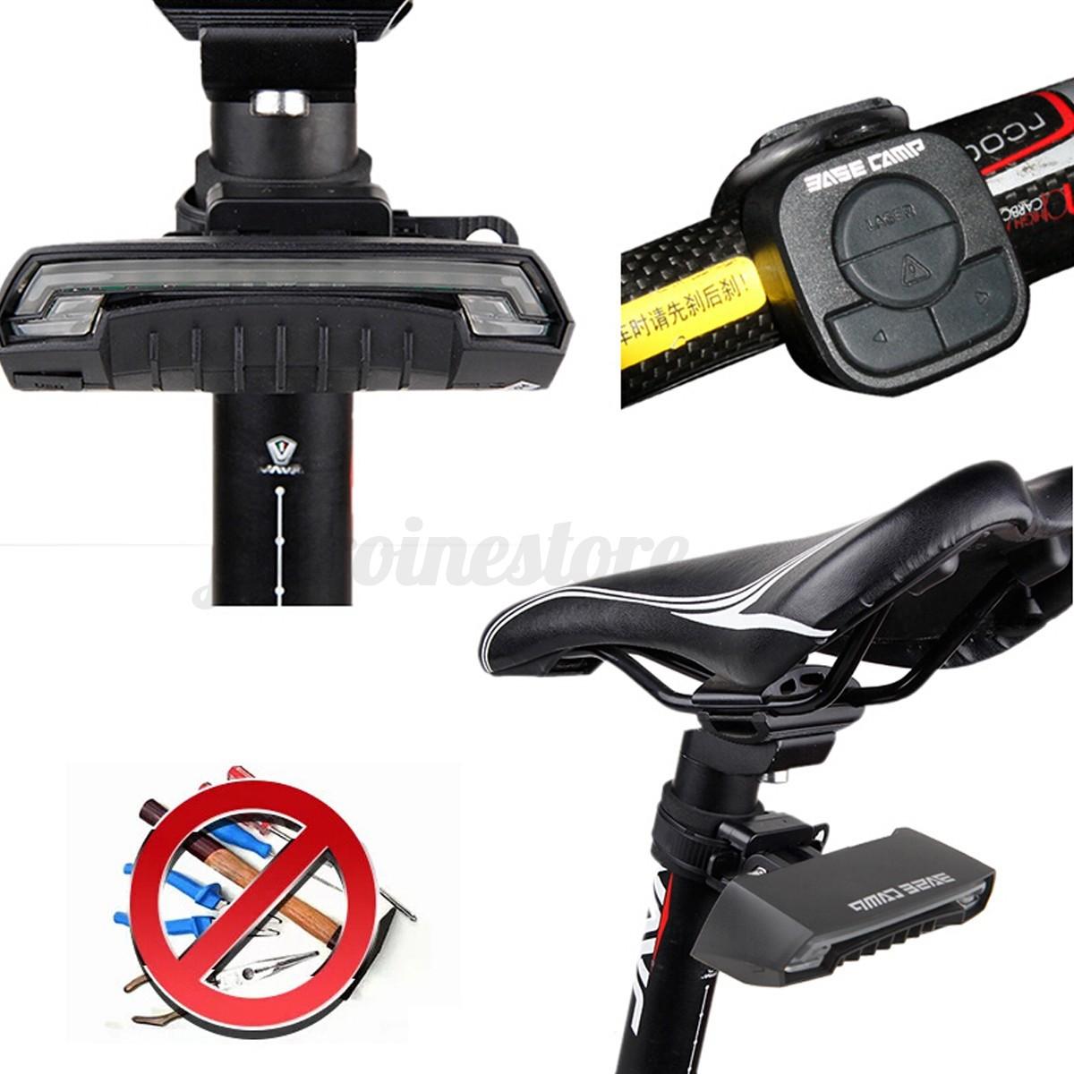 Bicycle Bike Tail Laser Led Indicator Turn Signal Light