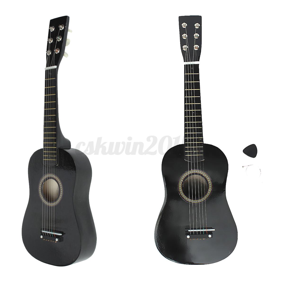 23 6 strings popular beginners kids basswood acoustic guitar pick wire strings ebay. Black Bedroom Furniture Sets. Home Design Ideas