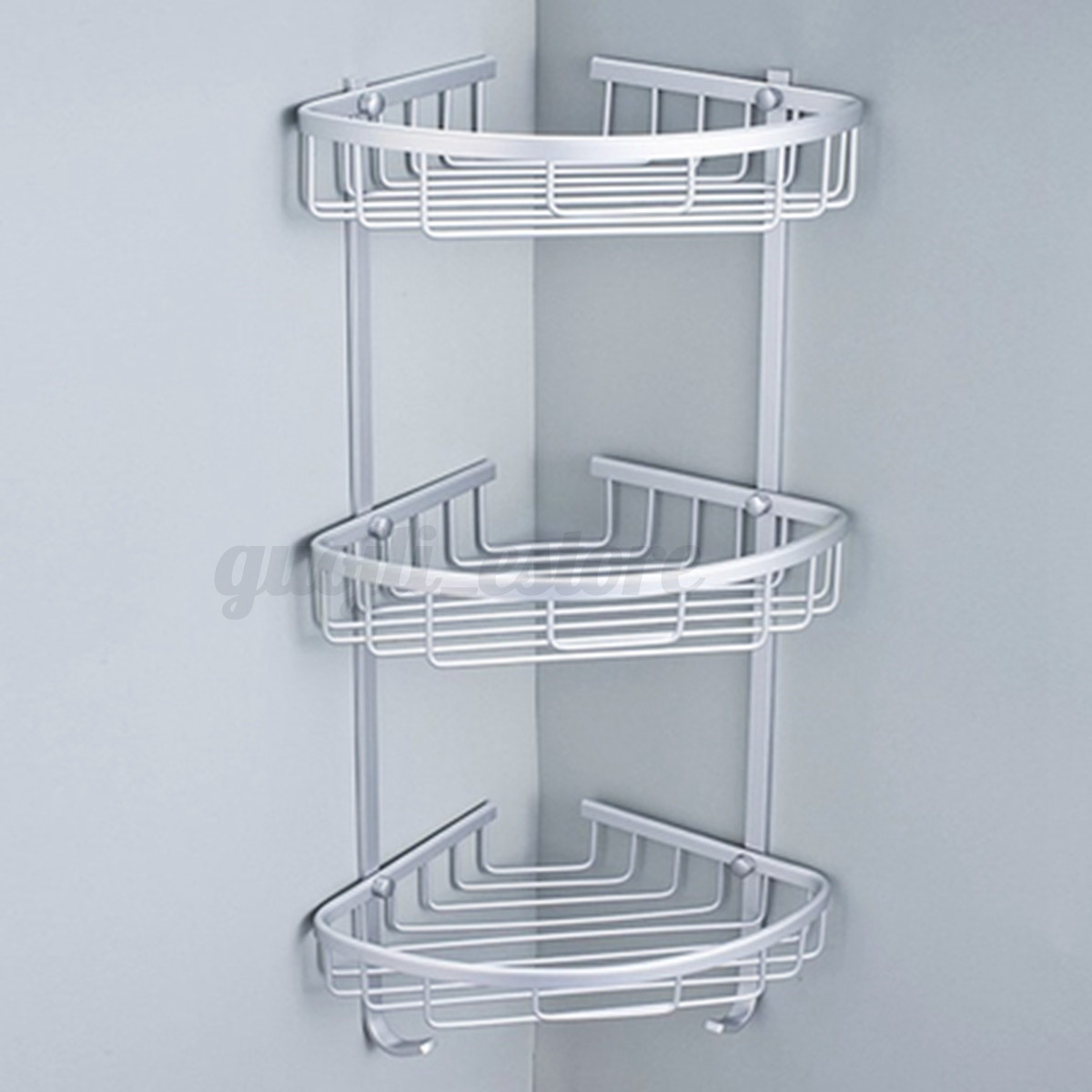 3 Layer Triangular Shower Bathroom Corner Bath Rack Wall Storage ...
