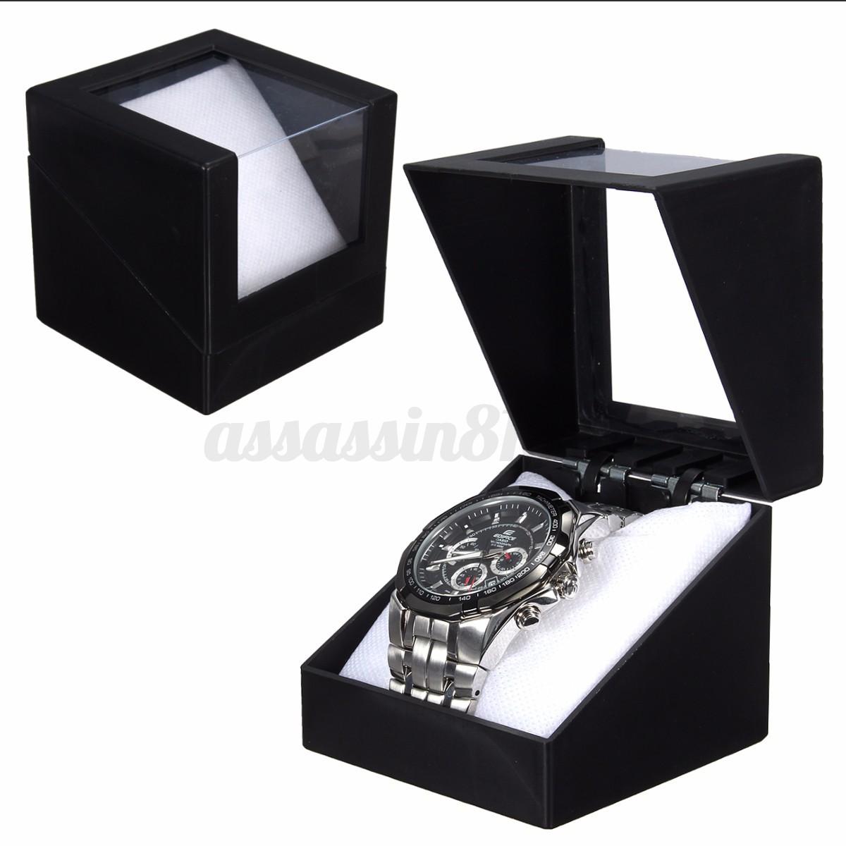 Deluxe Plastic Wrist Watch Winder Storage Holder Display