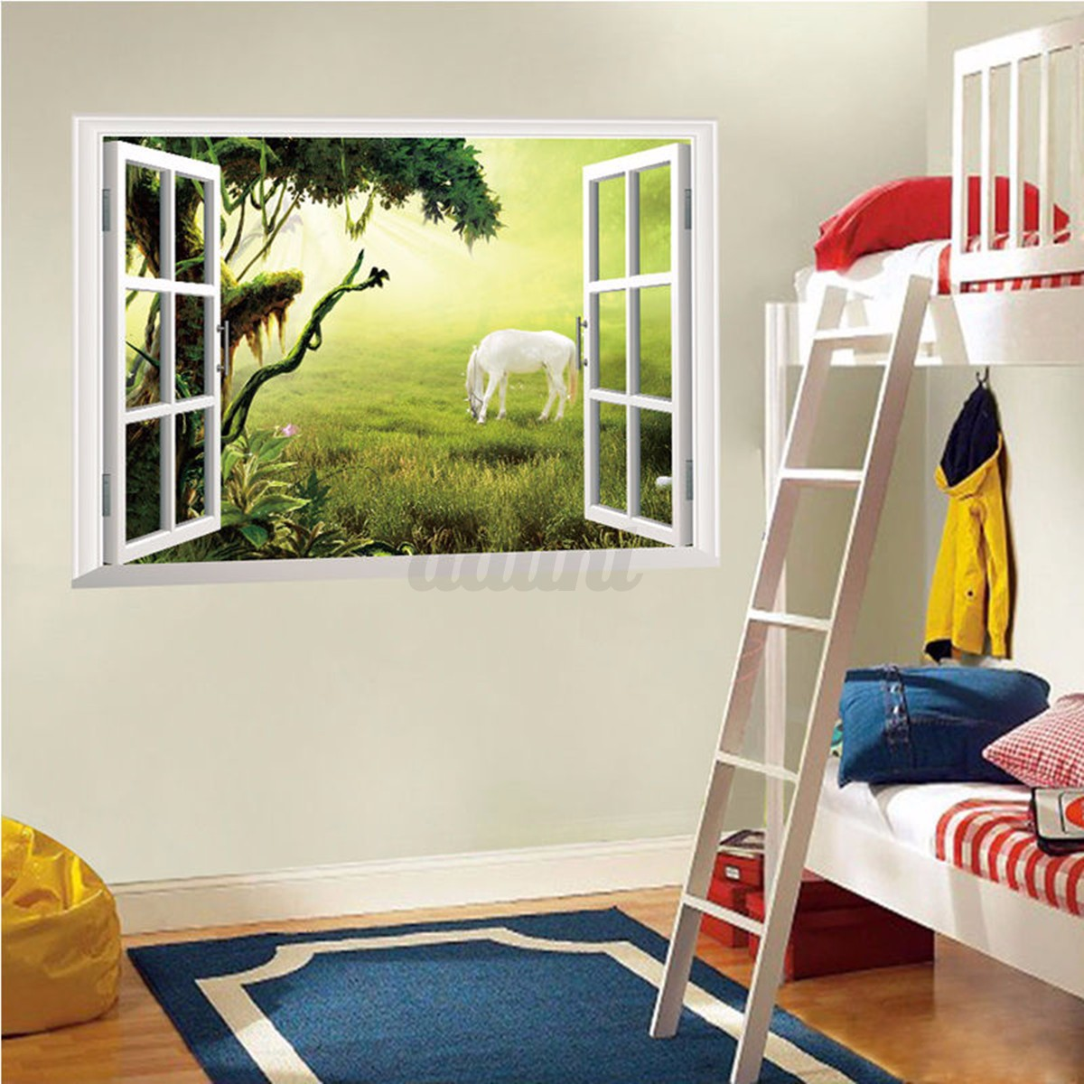 3d wall stickers ebay 3d view super mario games art kids room wall stickers ebay canada 3d removable animals window view wall sticker decals