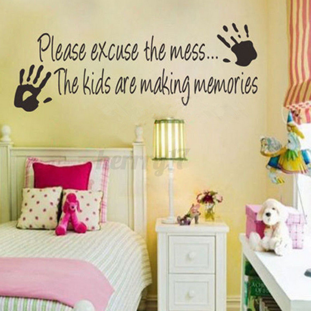 UK Family DIY Removable Art Vinyl Quote Wall Stickers Decal Mural ...