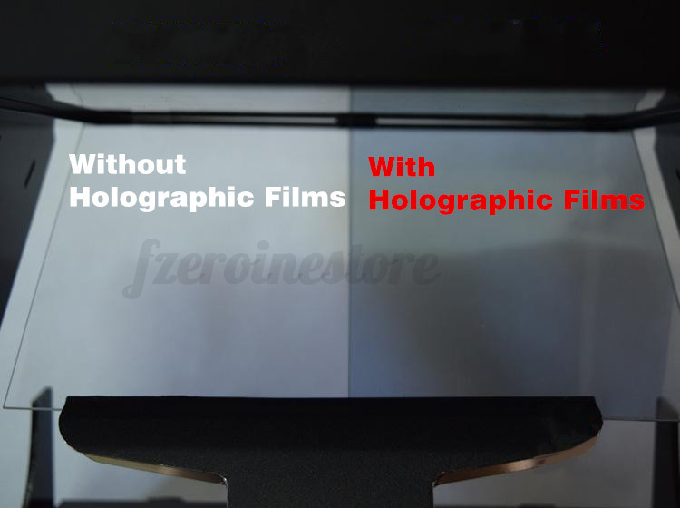 210mm x 297mm SAMPLE A-4 size TRANSPARENT HOLOGRAPHIC REAR PROJECTION FILM US
