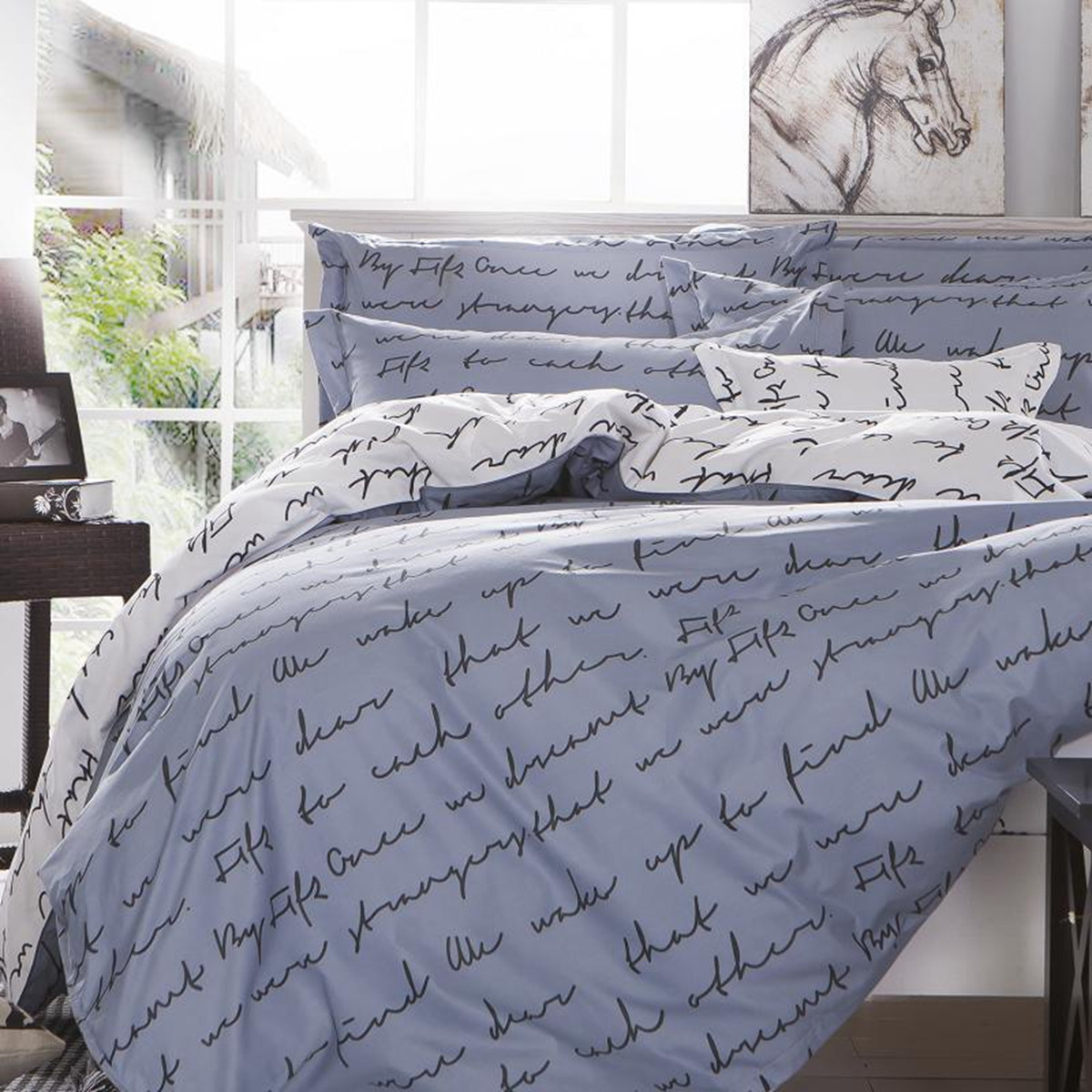 180c663d5 Love Letter Zip Open Single Queen King Size Bed Set Pillowcase Quilt ...