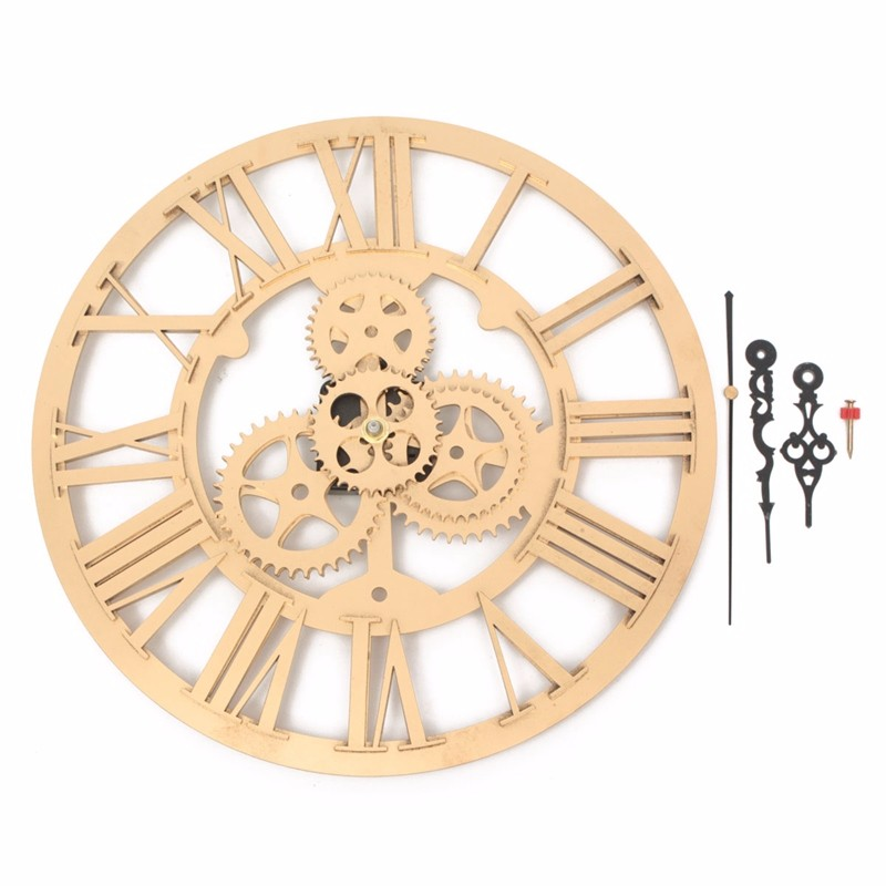 13X Retro Industrial Wooden Gear Art Bar Cafe Vintage Wall Hanging ...