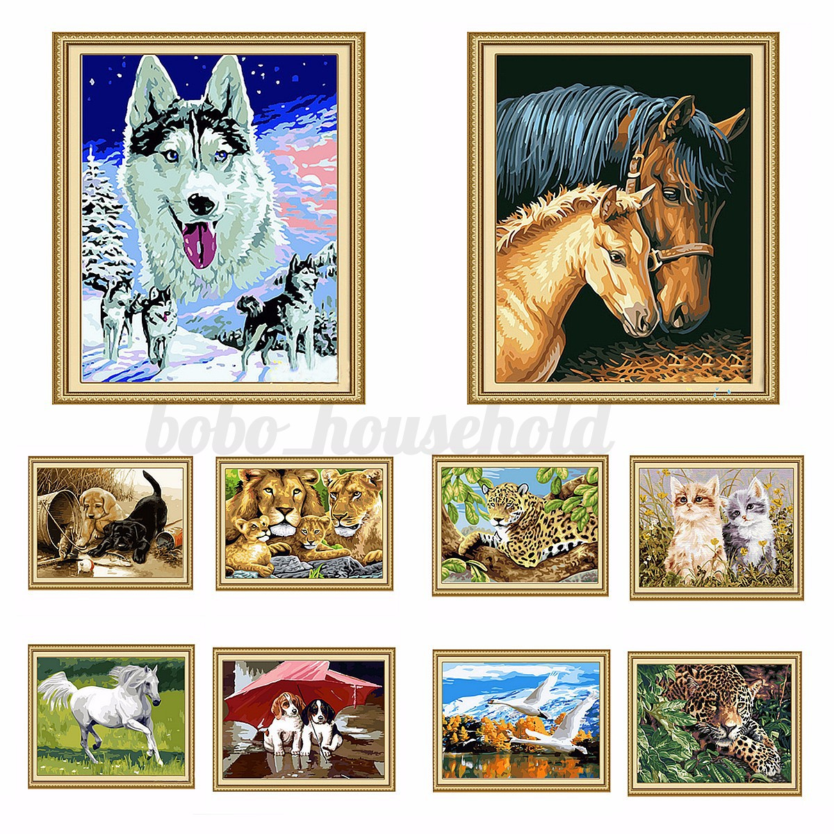 diy acrylic paint by number kit oil picture painting on canvas