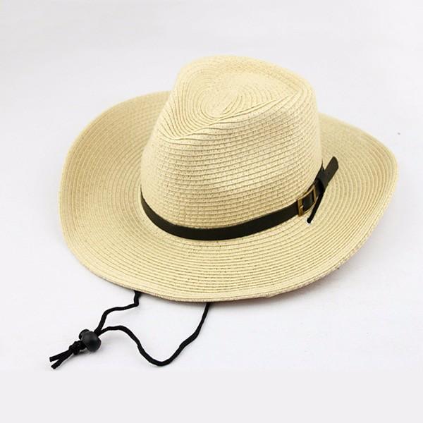 Fashion Cowboy Straw Wide Brim Hat Mens Collapsible Fedora Trilby Sun  Panama Cap  e6f2d45f1e2