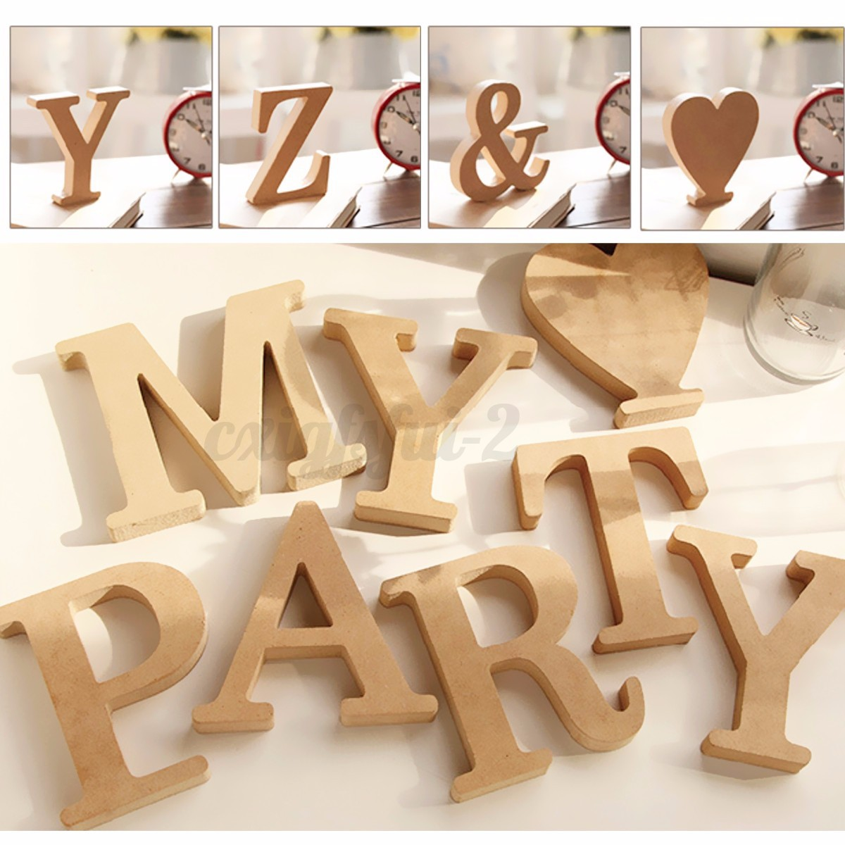Thick wood wooden letters alphabet wedding for Decoration 9 letters