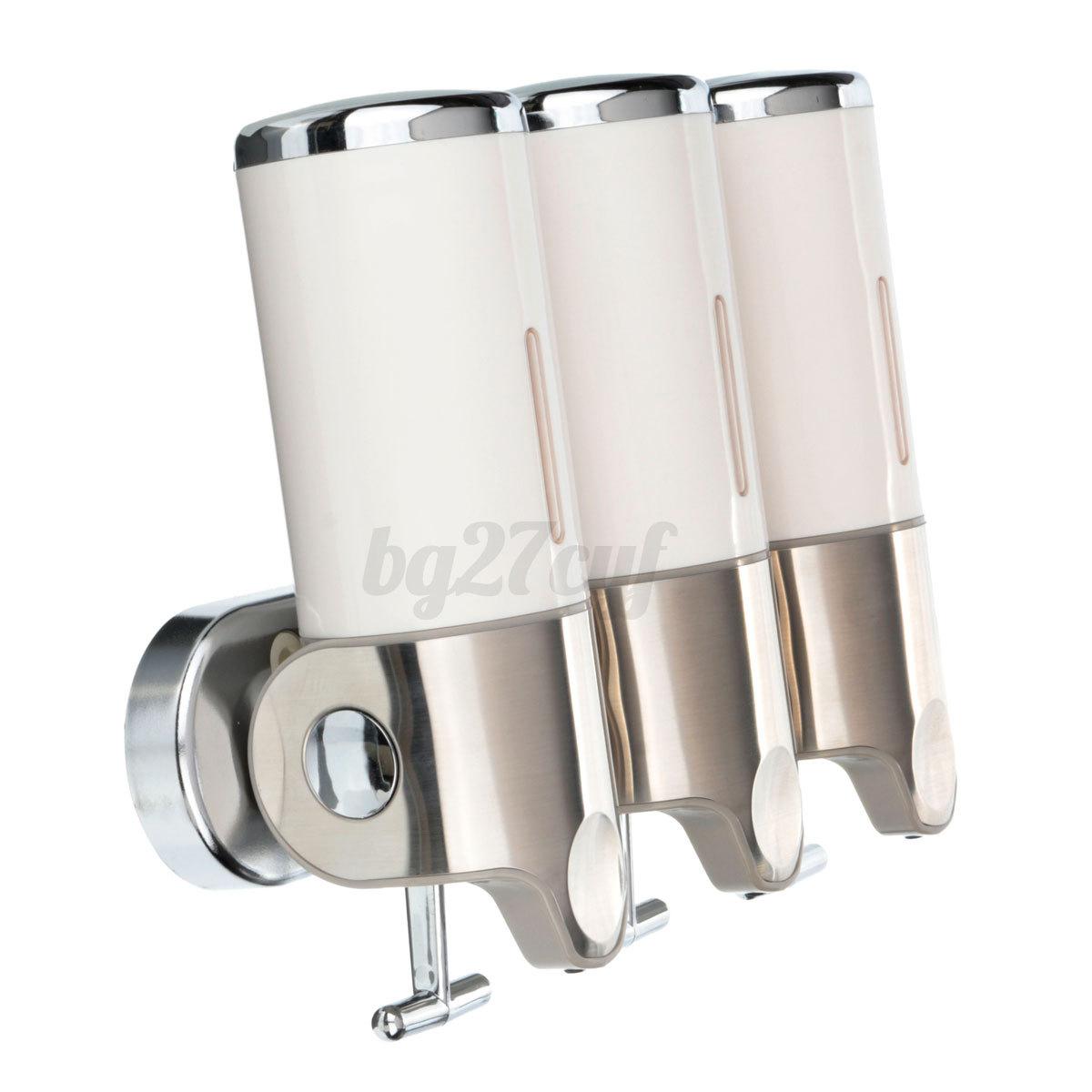 3x500ml dispensador jabon champ cuarto de ba o ducha soap for Dispensador de jabon para ducha