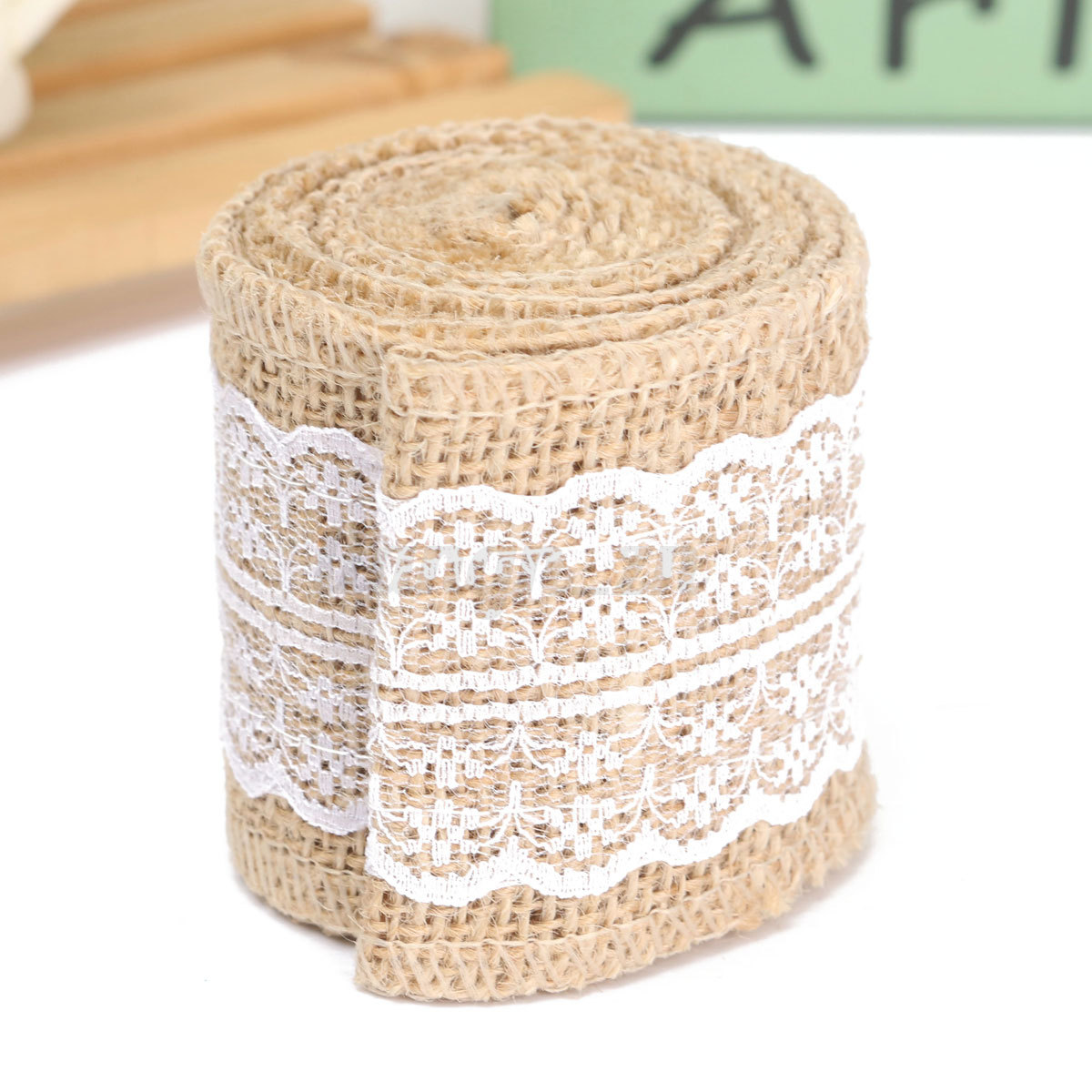 2m couleur rouleau de ruban toile jute dentelle bordure bande mariage d cor diy ebay. Black Bedroom Furniture Sets. Home Design Ideas