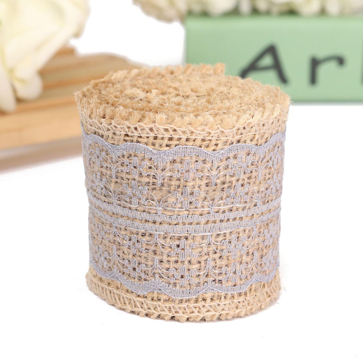 2m couleur rouleau de ruban toile jute dentelle bordure for Sur la table et 85 manual
