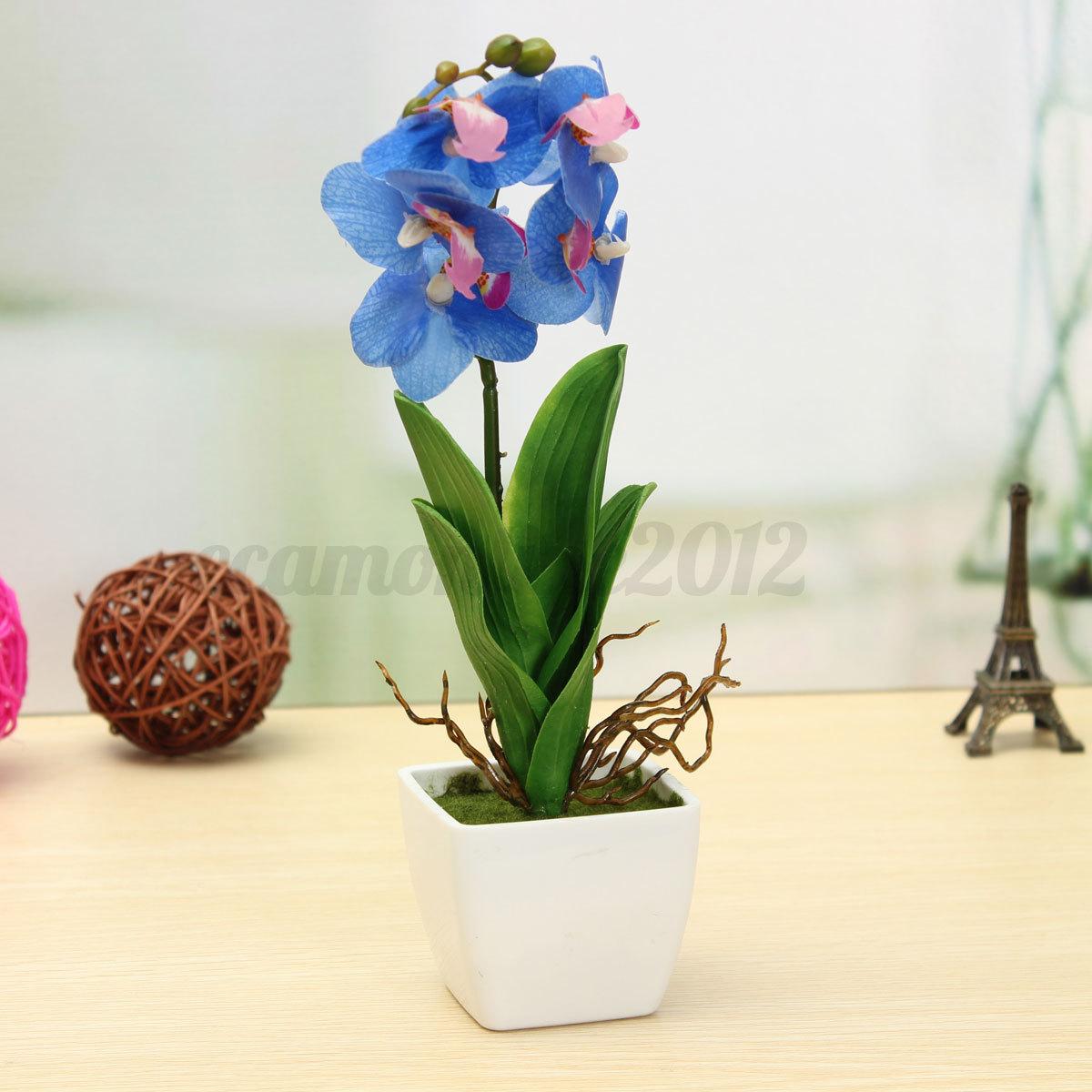 Artificial Silk Flower Plants Green Warm Lovely Wedding Birthday
