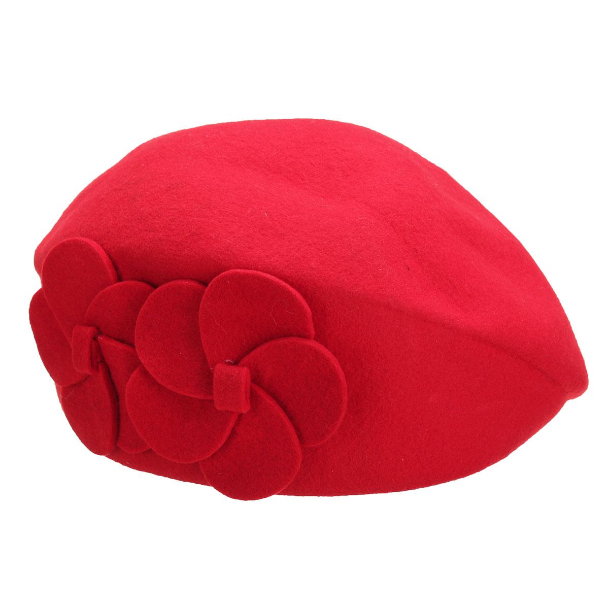 Womens Flower 1920s Vintage Winter Wool Felt Cap Beret ...