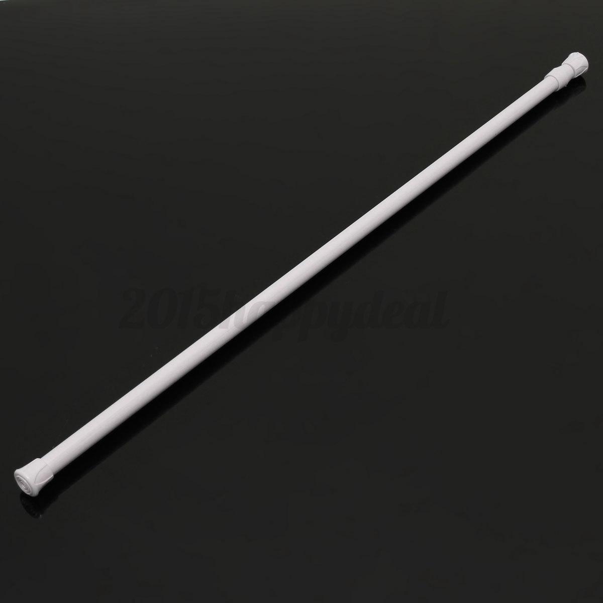 curtain rail pole spring extendable telescopic shower bath window tension rod ebay. Black Bedroom Furniture Sets. Home Design Ideas