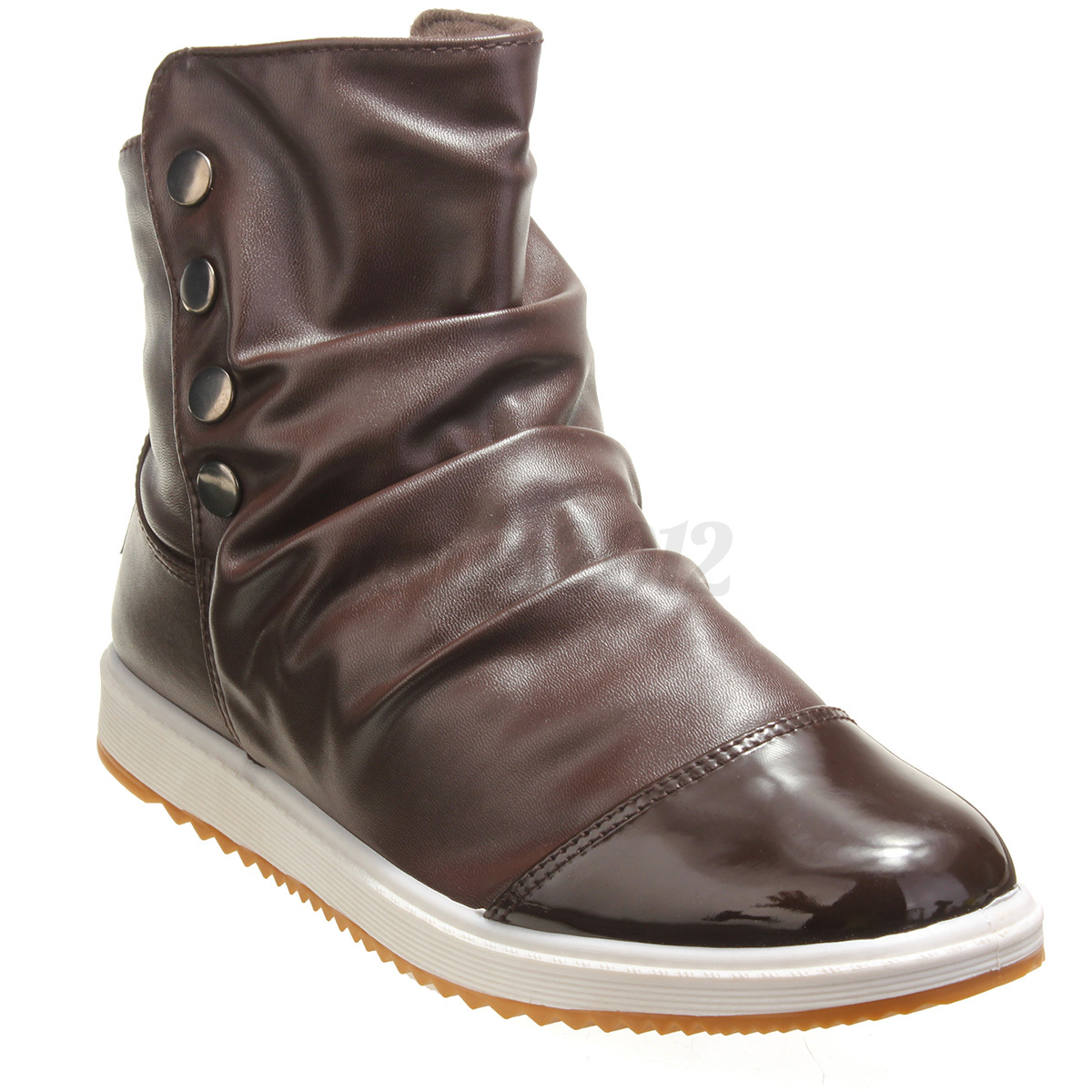 new mens high top winter warm ankle boots flat leather