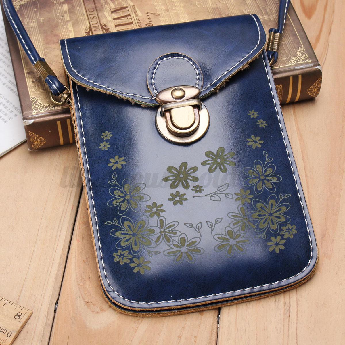 Damen-Tasche-Handy-Klein-Mini-Schultertasche-Leder-Umhaengetasche-Geldboerse-Bag