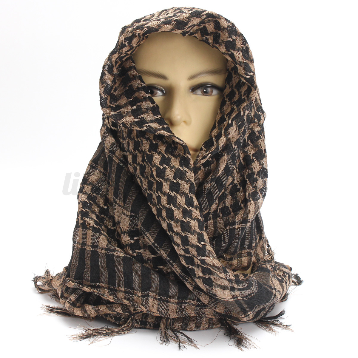 Shemagh-Militare-sciarpa-Tattico-Keffiyeh-Uomo-Donna-Scarf-Foulard-Kefiah-Araba miniatura 11