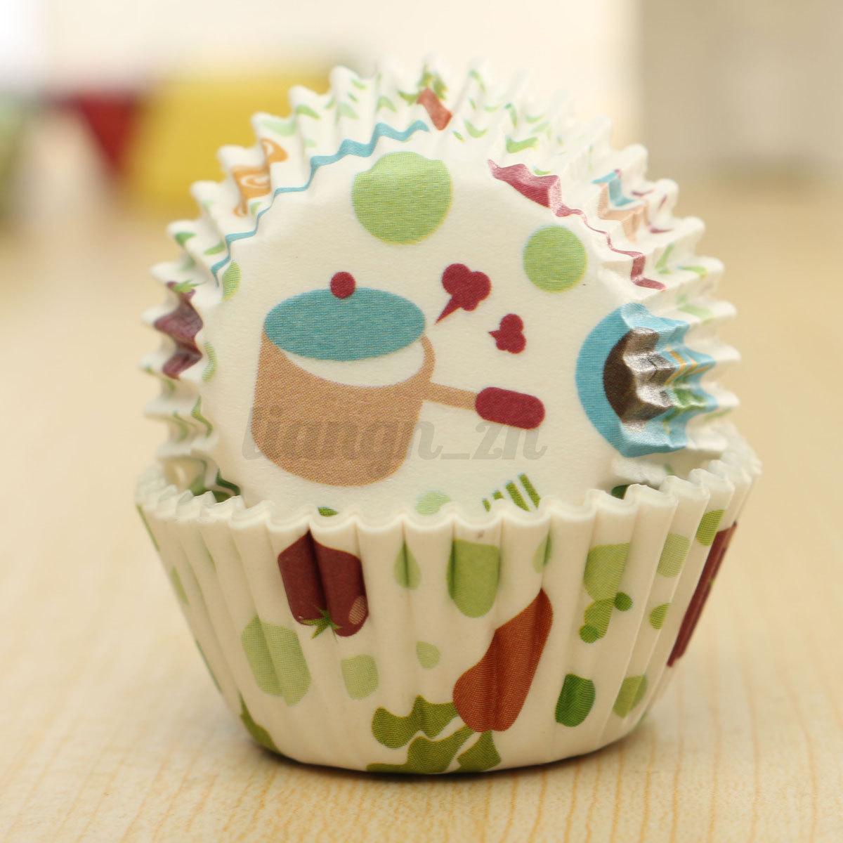 20 50x caissette de muffin papier cupcake g teau moule no l mariage baking cup ebay. Black Bedroom Furniture Sets. Home Design Ideas