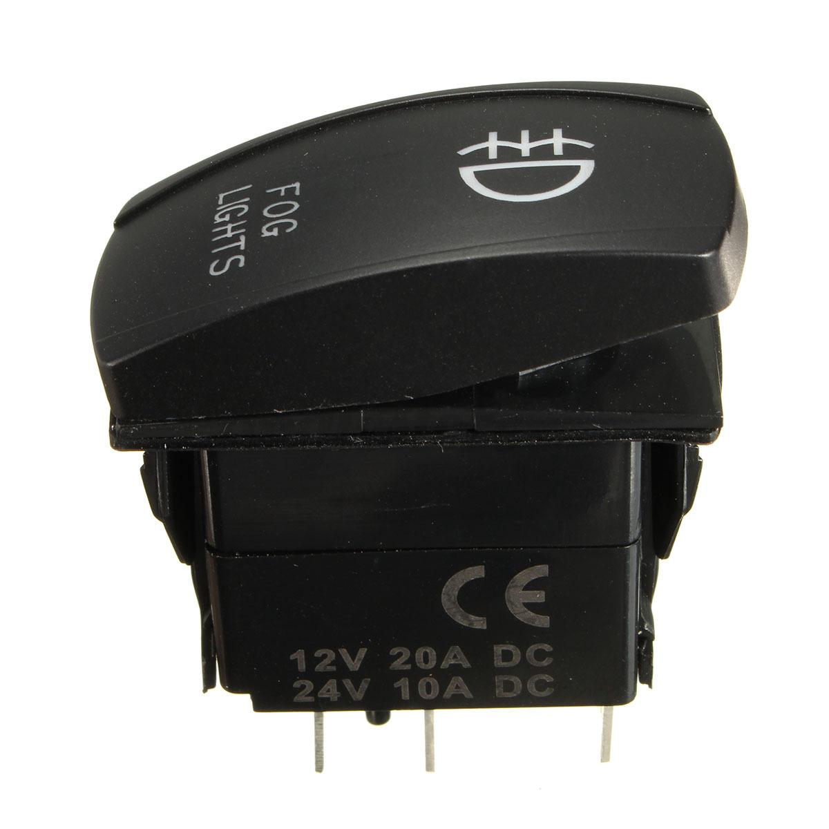 12V 40A 5 Pin LED Fog Light Laser Rocker Switch Wiring ...