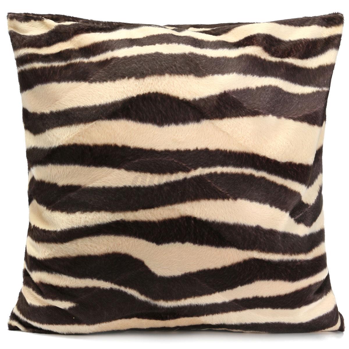 Fashion Square Pillow Cases Animal Print Leopard Zebra Cushion Covers Sofa Car eBay
