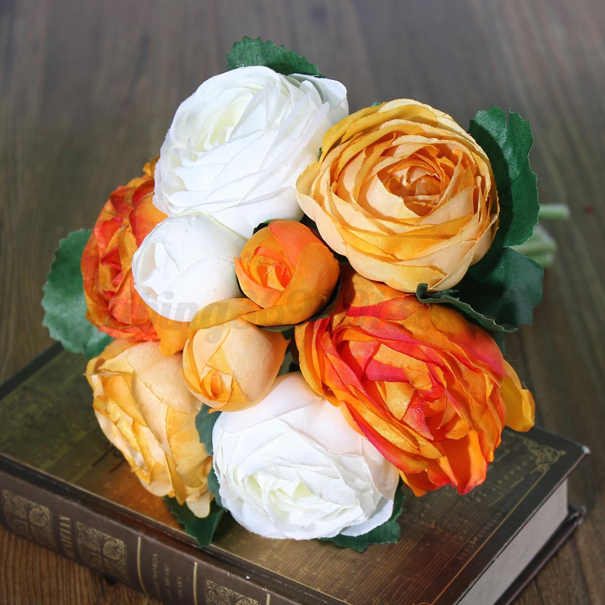 Bouquet-Artificielle-Fleur-Pivoine-Soie-Plante-mariage-Accueil-Decor-Jardin-silk