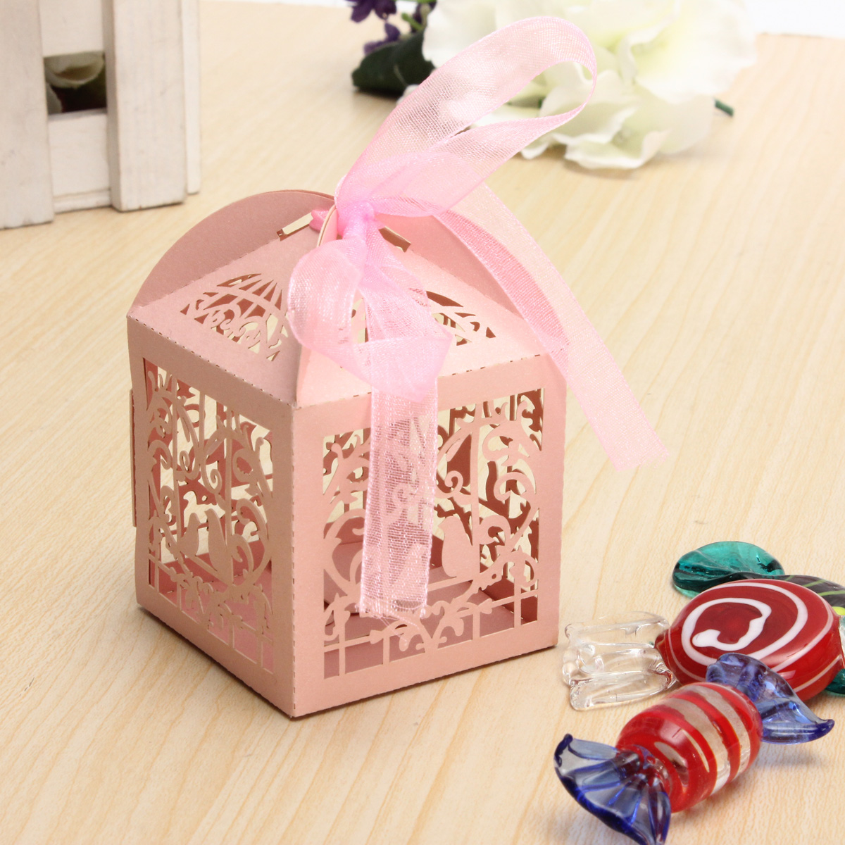 10/50/100pcs Birdcage Wedding Party Sweets Cake Favour Candy Gift ...