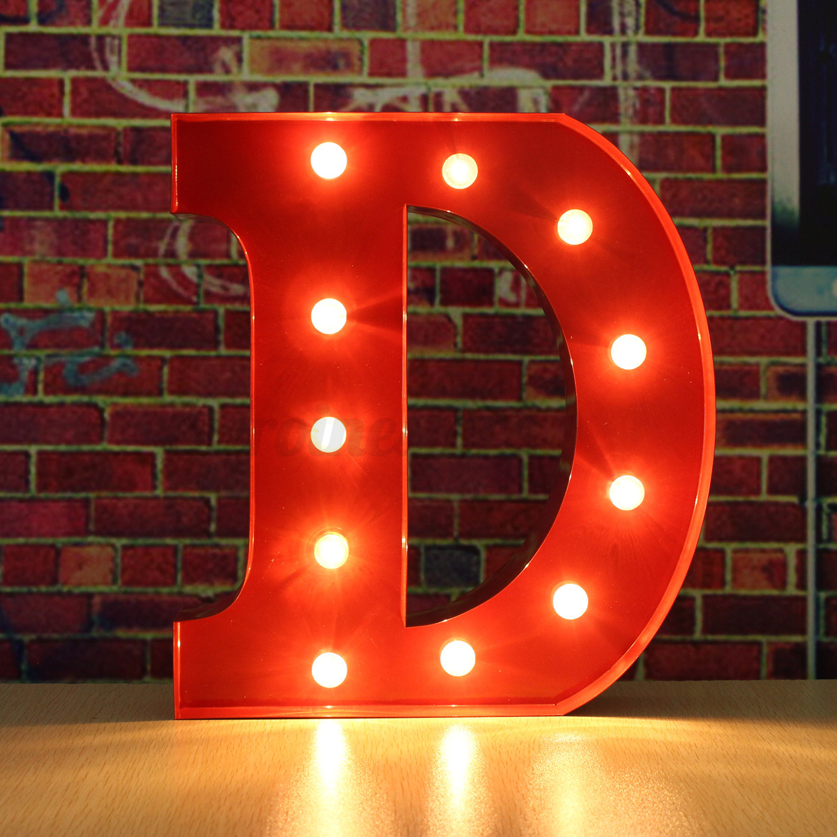 12 led red marquee letter alphabet lights vintage circus style