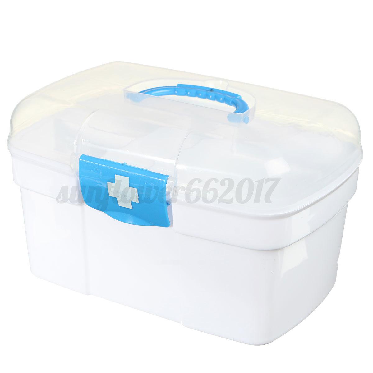 medizinbox sortierkasten f r medikamente organizer erste hilfe box hausapotheke ebay. Black Bedroom Furniture Sets. Home Design Ideas