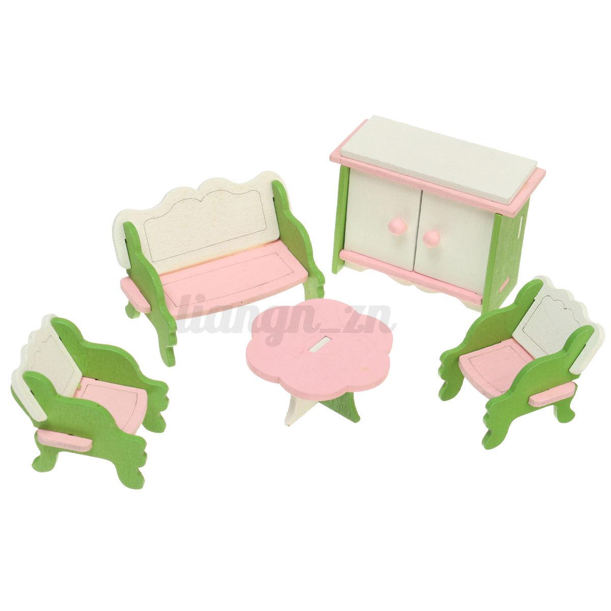 mobilier miniature maison de poup e meuble de chambre. Black Bedroom Furniture Sets. Home Design Ideas