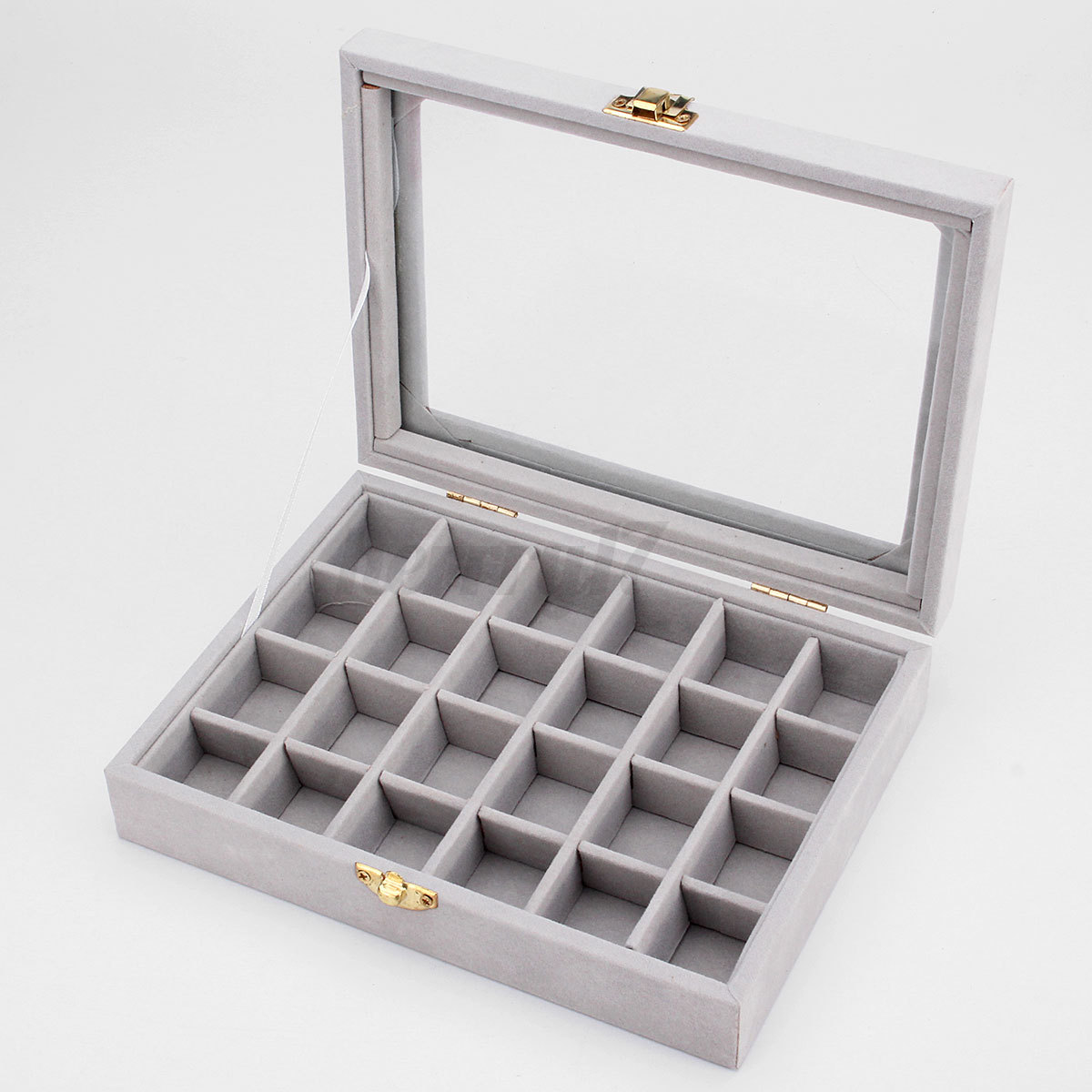 Uk Velvet Ring Display Jewelry Organizer Case Tray