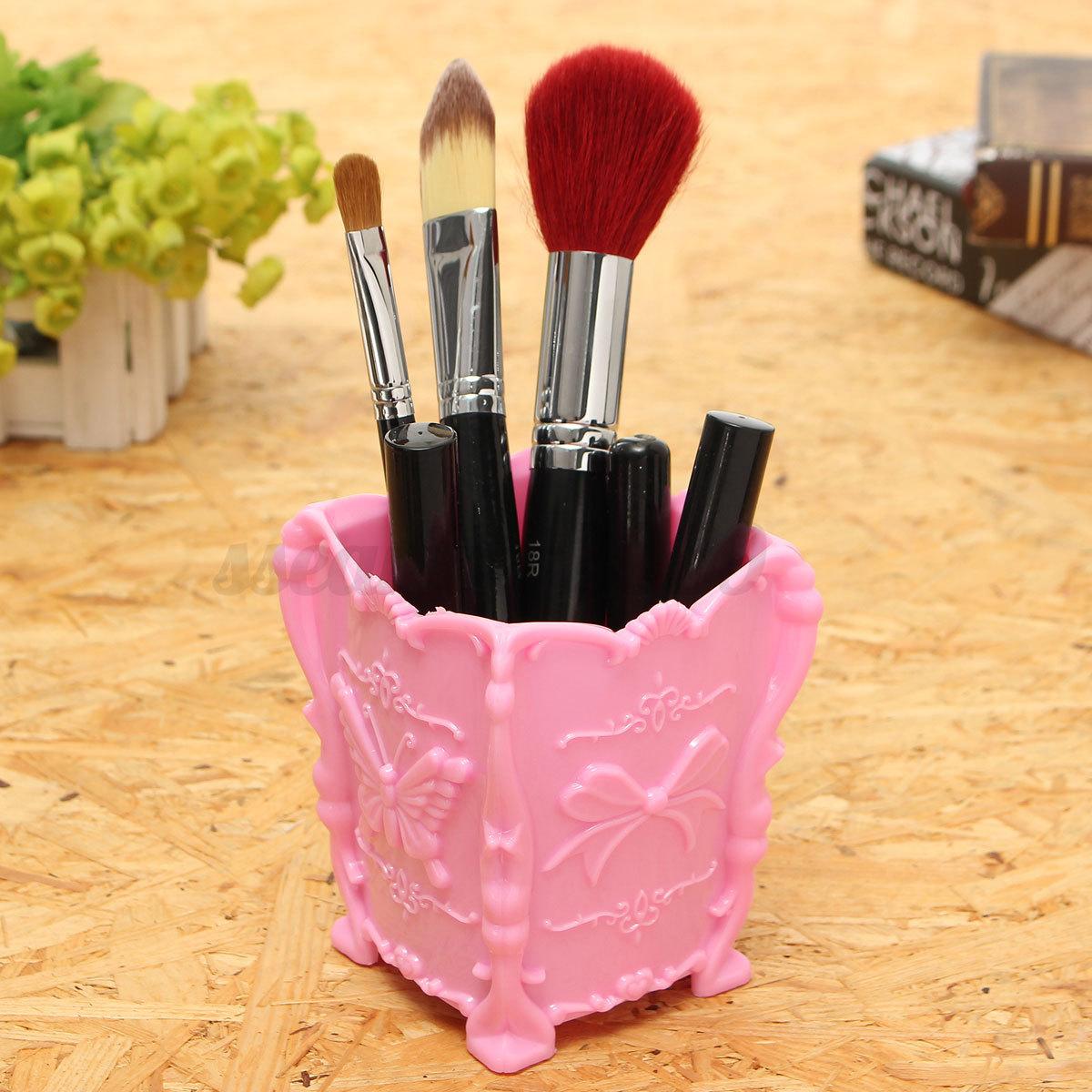 Boite-Pot-Crayons-Pinceaux-Porte-Rangement-Maquillage-Cosmetique-Stockage-Bureau
