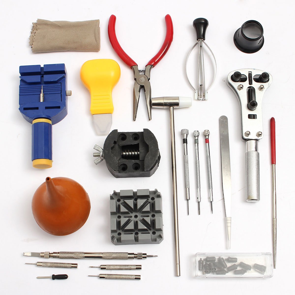 kit 22 tournevis outil r paration montre couteau ouvre boitier horloger case ebay. Black Bedroom Furniture Sets. Home Design Ideas