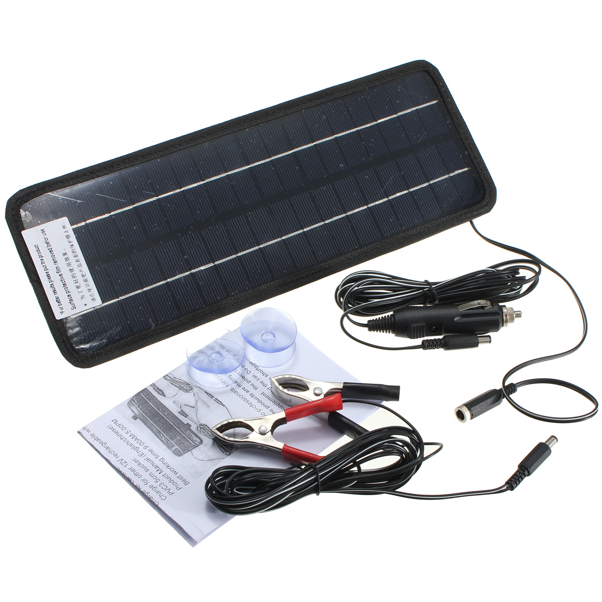 12V 4.5W Portable Power Solar Panel Battery Charger For