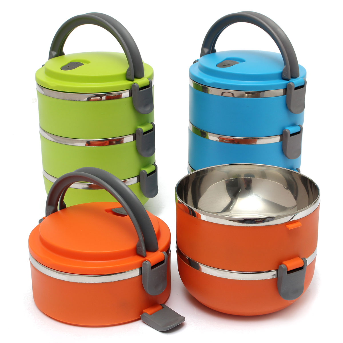 3 Layers Stainless Steel Lunch Bento Box Food Container Ther