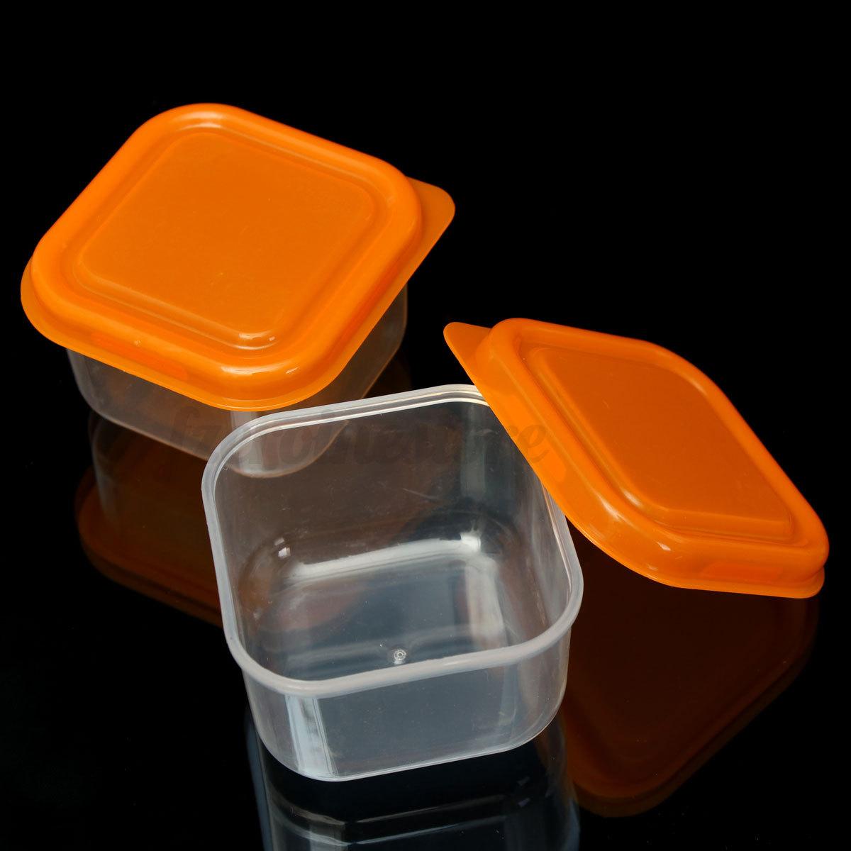 10x Mini Storage Boxes Plastic Baby Weaning Feeding