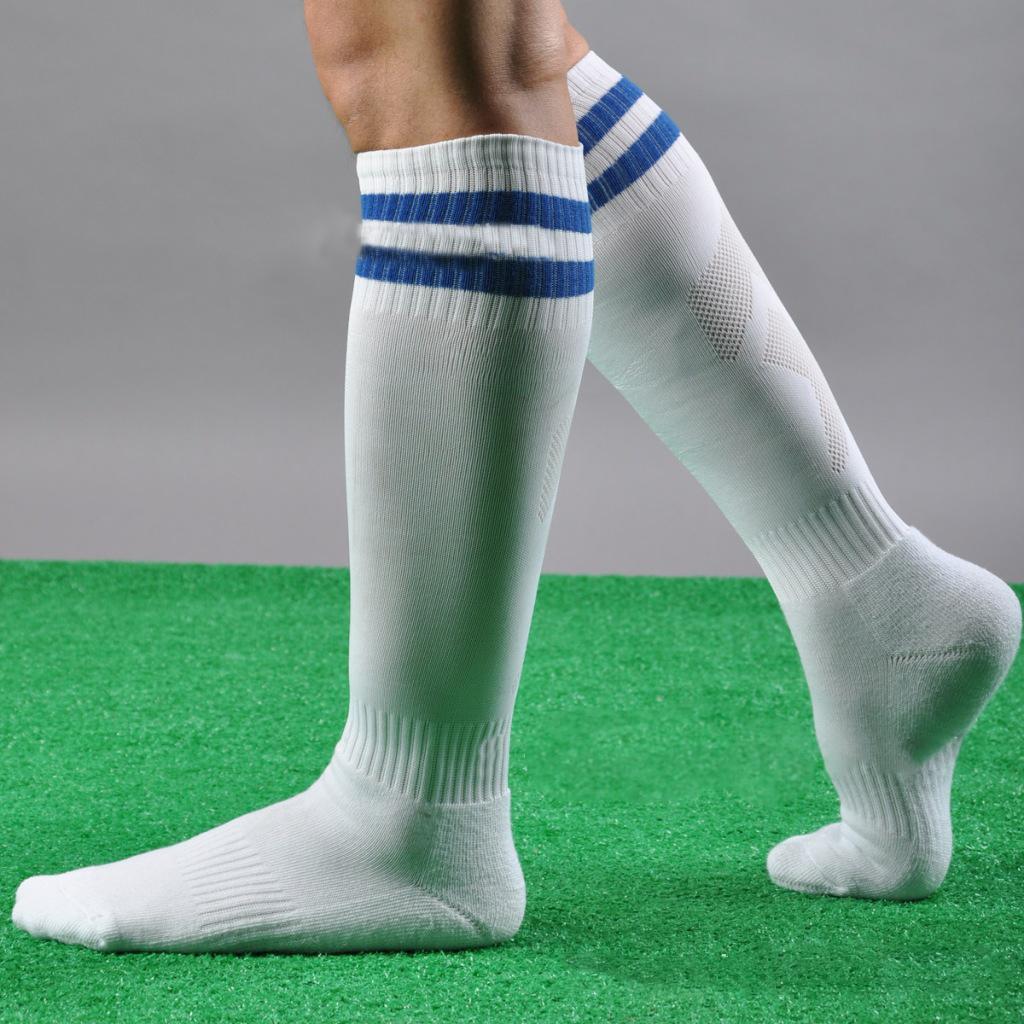 95893bc55 Men Women Striped Over The Knee Thigh High Stockings Football Sport Long  Socks