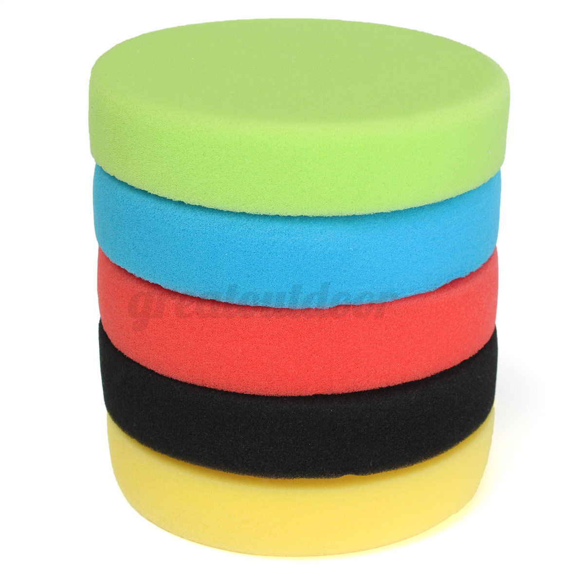 5Pcs 6 Inch Flat Sponge Buff Buffing Pad Polishing Pad Car