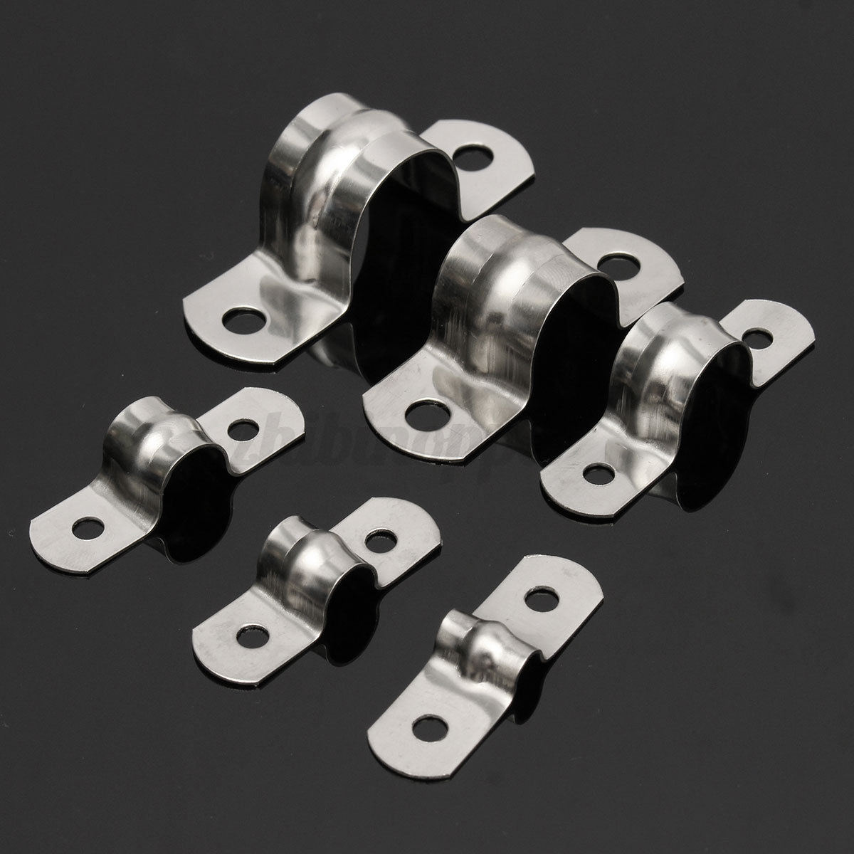 Steel Pipe Clips : Stainless steel plumbing tube saddle pipe clip