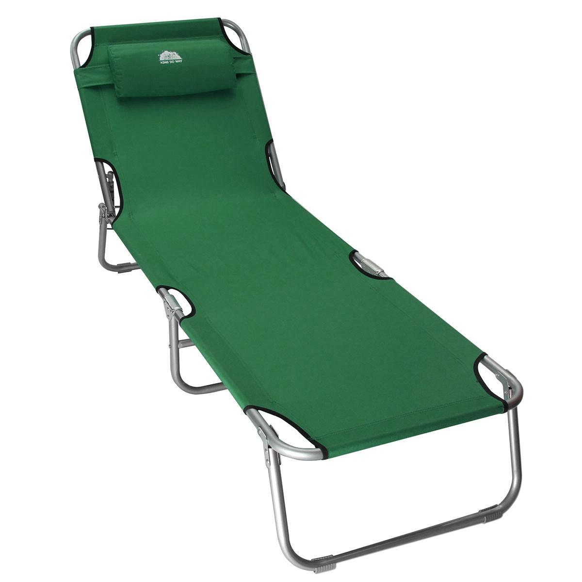 Sun Lounger Folding Recliner Chair Portable Reclining Garden