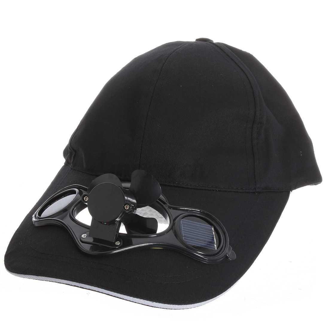 Summer Sports Outdoor Hat Cap Solar Sun Power Cool Fan For
