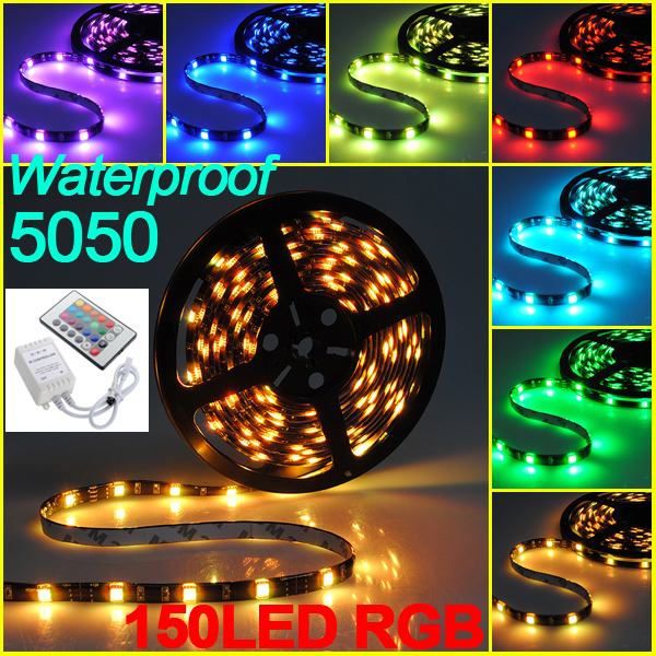 5M-3528-5050-5630-SMD-LED-RGB-Flexible-Lampe-Bande-IP65-Remote-Fete-Noel-Decor