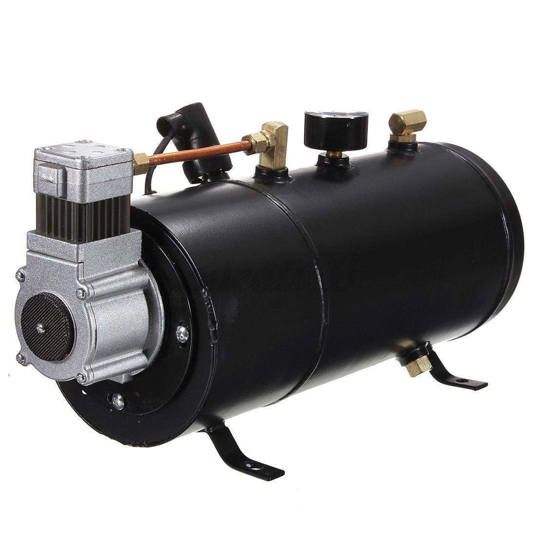 Semi Truck Air Tanks : Psi v heavy duty compact air horn compressor tank