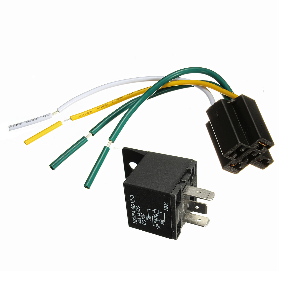 A423CF13CBCF53CEC9B203C63323CDC913CE4DC7F5CA car auto dc 12v volt 30 40a automotive 4 pin 4 wire relay & socket